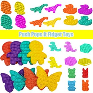 Push Pops It Fidget Toys Bubble Sensory Autism Needs Squishy Stress Reliever Adult Kid Funny Antistress Reliver Stress Toy