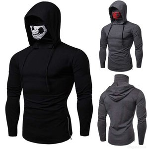 t Men's 2019 shirts mens winter designer new single sweater personality game hoodies skull print high collar long sleeve WGWY