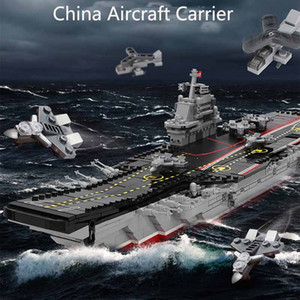 Chinese Aircraft Carrier Building Blocks 1379PCS Model Military Assembling Toy s Boys birthday Christmas present