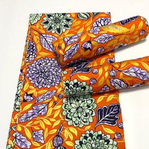 Yüksek Kalite Afrika Altın Baskılı Balmumu 100% Pamuk Blok Baskılar Kumaş Balmumu Ankara Kumaş Afrika Elbise Giyim Için