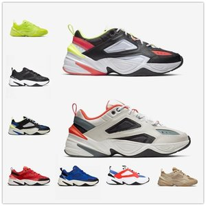 Homens Mulheres  AIR m2k tekno MONARCH IV shoes Sapatos Old Tekno Chunky Sneakers Atmosfera Cinza Preto Branco Jade Bege Puro Platinum Tint Laranja Homens Esportivos