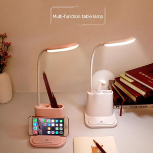Multifunctional LED Touch Desk Lamp USB Rechargeable Bedroom Table Light Dimmable Adjustment Table Lamp Living Room with Fan