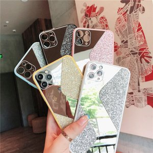 S Style Mirror Glitter Phone Cases Bling Back Cover Protector Case for iPhone 12 mini 11 pro max X Xs XR Xs Max 7 7p 8 8plus Free DHL