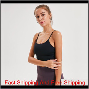 Lu-83 Solid Color Women Yoga Bra Shirts Sports Vest Fitness Tops Sexy Underwear Lady Top qyluGJ five2010