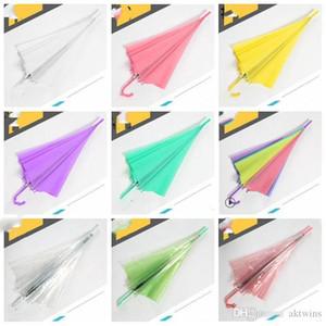 Çocuk Şeffaflık Şemsiye Uzun Kolu Şemsiye Renkli Şemsiye Gökkuşağı Katlanır Çocuk Şemsiye Çocuklar Yağmur Koruma LXL1042-1