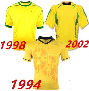 Retro 1994 1998 2002 Bebeto 축구 유니폼 Ronaldo Ronaldinho World Cup Vintage 94 98 02 클래식 축구 셔츠 Maillot Camisetas de Futbol