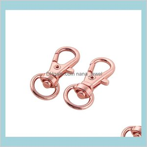 200Pcs Swivel Lobster Clasp Hooks Keychain Split Key Ring Connector For Bag Belt Dog Chains Diy Jewelry Making Findings Aenmo 4Mpbp