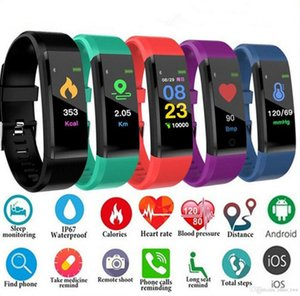Novel ID115 Plus Smart Bracelet Fitness Tracker Smart Watch Heart Rate Watchband Smart Wristband For Apple Android Cellphones with Box