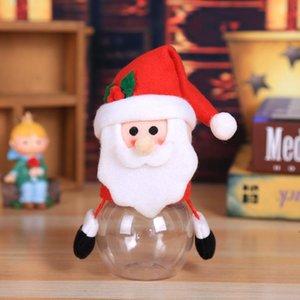 Christmas Gift Wrap Candy Jar Storage Bottle Santa Bag Sweet xmas Boxes Child Kids Gifts LLD10622