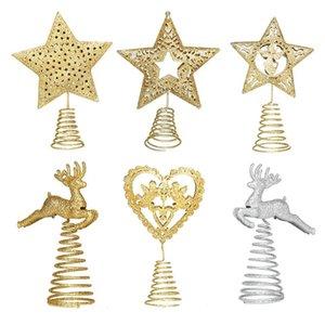 Arbres de Noël Topper Iron Star pour ornements d'arbre de Noël Top Navidad Noel Kerst Natal News Année de vacances Décor