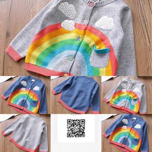 Jassen Winter Girls Casual Herf Kids Baby Rainbow Cloud Truien Kint Vest Trui Outrunner Casaco S11509 ZFDL