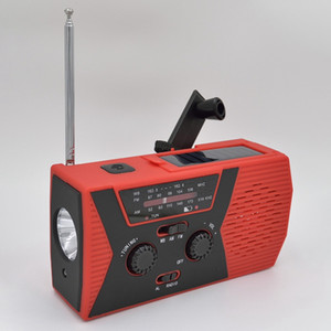 5 in 1 Outdoor Portable Solar Crank AM FM Radio for Emergency Radio SOS Alarm 2000MAh Power Bank and Reading Lamp1 656541