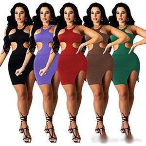 Women High Collar Sexy Fashion Casual One Shoulder Dress Designer Slim Tight Ladies Skirt 823-1