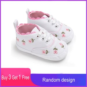 Casual Floral Soft Shallow Kids Toddler Baby Shoes Spring Newborn Infant First Walkers Flowers Princess Girls Childrens Flats