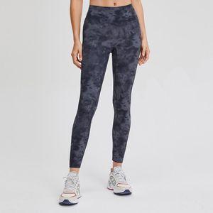 "Nepoagym 25 ""Rhythm Tie Dye Yoga Leggings Nessuna cucitura anteriore Donne Yoga Pantaloni Yoga Buttery Leggings Sport Donne Fitness"
