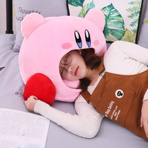 Plush Cap Kawaii Anime Game Kirby Sleep Pillow Cushion Soft Pet House Doll Toys Messenger Bags Gift
