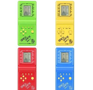 Classic Tetris Hand Nostalgic Host Game Player Held Electronic Game Toys Console for Kids Playing Fun Brick Game Riddle Handheld e9999