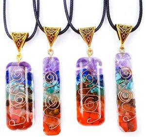 Orgone Energy Orgo Energy Colgante Spirit Arcade Crystal Semi Gem Pied Meditation Seven Chakra Colgante Partido Artesanía Favor de la fiesta EEB5518