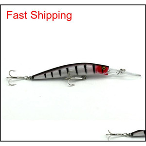 6 Colors 14.5cm 14.7g Big Game Fishing Lures Plastic Hard Bait Fishing Tackle Pesca Fish Wobbler Minnow Artificial EzA abc2007