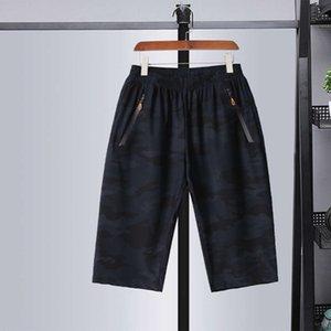 Big Trend Camouflage Summer Men's Capris con pantaloni casual in seta di grasso extra e ghiaccio