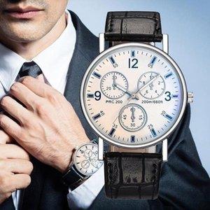 Wristwatches Fashion Mens Business Black Watches Belt Quartz Men Wrist Watch Casual High Quality WristWatch Reloj Inteligente Hombre