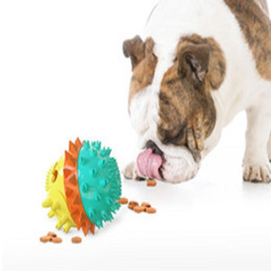 Outdoor pet toy items pet dog training grinding teeth sound toy dog toy squeak leaking food ball