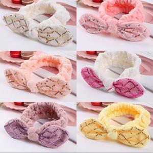 Pailletten stirnband bowknot elastische haarband mädchen turban haarbänder bogen haarband für make-up fair waschen spa yoga dusche zubehör geschenk 331 u2