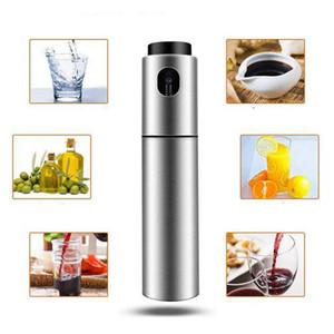 New Silver Stainless Steel Oil Sprayer Olive Pump Spraying Oil Bottle Sprayer Can Jar Pot Tool Can Pot Oil Sprayer