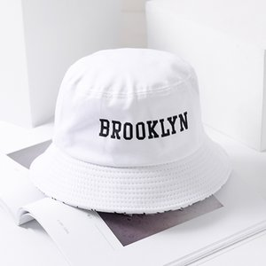 Summer Letter Brooklyn Bucket Hat Sad Boy Fisherman Hat Outdoor Travel Hat Fashion Sun Cap for Men Women Bob Panama big head
