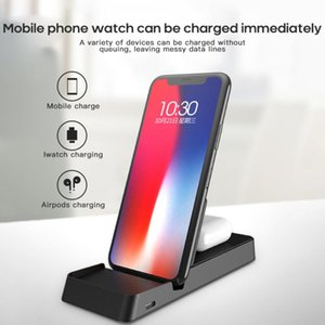new Dual 10W Wireless Charger Foldable 3 In 1 Wireless Charging For IPhone12 12 Pro Samsung For smart Watch For AirP Pro Chargers