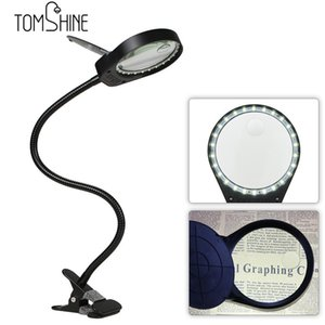 2021 NEUE TOMSHINE LED 3X / 10X LAMP LUMPING Glass Birne flexible Lichttisch M2CC