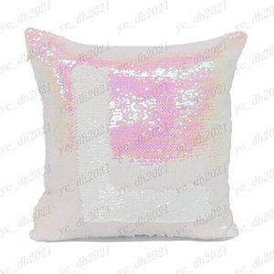14 style Mermaid Pillow Cover Sequin Pillow Cover sublimation Cushion Throw Pillowcase Decorative Pillowcase That Change Color