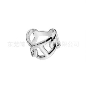 Simple chic three twining couple popular jewelry h heavy industry index finger female ring