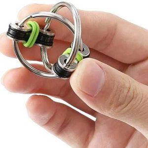 Corrente de descompressão Fidget Hand Spinner dedo Brinquedos de Metal Brinquedo Bike Chaveiro Chaveiro Anel Chaveiro Antistress Presentes