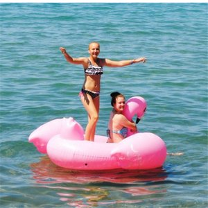 New Summer Swimming Inflatable Floating Floor Inflatable Water Float Raft Air Mattress Swim Pool Beach Toy Flamingo DHL Fedex Shipping