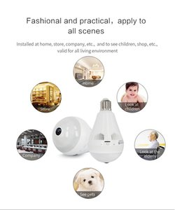 Wireless Bulb Light IP Camera Panoramic Wifi Camera Wireless P2P Network Fisheye IP Camera LED Home Security System For IOS Android