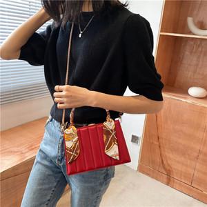 luxury designer handbag High quality leather square box silk scarf lady Shoulder Messenger Bag purses and handbags sac a main C0225