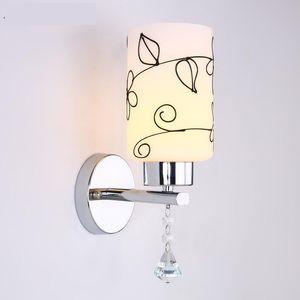 Vintage Duvar Işık Cam Duvar Lambası 110 V 220 V Yatak Odası Lamba Yemek Oturma Odası Aplike Murale LED
