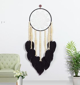 Dream Catcher Handmade Hanging Wall Decoration Craft Traditional Woven Feather Dreamcatcher Ornament for Home Bedroom OWA8531