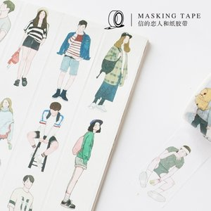 Washi tape Nordic style boys and girls diary decoration DIY tape Scrapbooking tape Masking Friends series T200229 2016