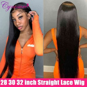 Cynosure HD Transparent Front Hu Hair Wigs Pre Plucked 180% Density 13X4 13X6 Remy Brazilian Straight Lace Wig for Women