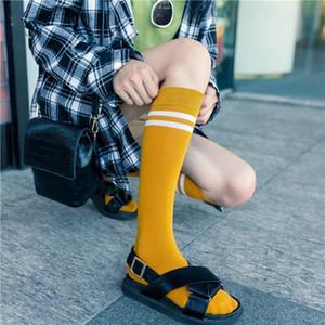 Preppy Style School Schools Uniformes Japonais Kawaii Mignon Strosed Women's Bas Femelle Girls Genou High Chaussettes Longue Chaussette