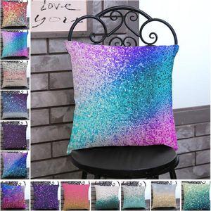 Dazzling colour printed pillowcase polyester-linen pillowslip home sofa office cushion cover Cushion Cover Decor Pillow 45*45cm YHM287