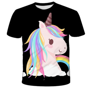 3D Girls Clothes unicorn t-shirt kids Cute Baby My Little Baby Children pony T shirt Costumes Summer Short sleeve top camisetas