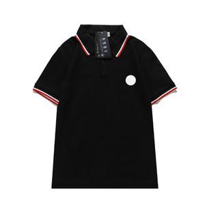 Polo Tasarımcı Gömlek Yaz Tasarımcısı Lüks Tişört Mens Polo Klasik Tarzı Kırmızı Beyaz Pachwork Boyun T-shirt Rahat Turn-down Yaka Tee Gömlek