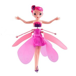 Induction Fairy Magical Princess Dolls Aircraft Infrared Light Suspension Flying Mini RC Drone Girl Children's Gift Figure Toys L0308