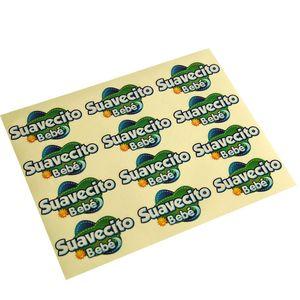 Custom Irregular Die-cutting Adhesive Sticker Label Clear PVC Children Cartoon Labels Stickers Waterproof