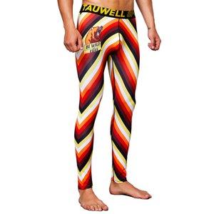 Hombres Pantalones de fitness Joggers Pantalones de compresión Pantalones Masculinos Culturismo Medias Leggings Para Hombres Moda Yoga Mantenga Cálido Colorido X0131