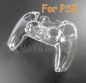 Crystal Clear PC Hard Protective Case for Sony Playstation 5 for PS5 Controller Gamepad Accessories Protective Cover