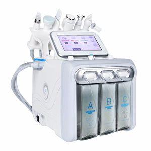 Venda quente 6 em 1 rosto de vácuo limpeza Diamante Diamante Dermaabrasão Água Oxigênio Jet Peel Máquina Vácuo Pene Cuidador Cuidados Faciais Beleza Máquina